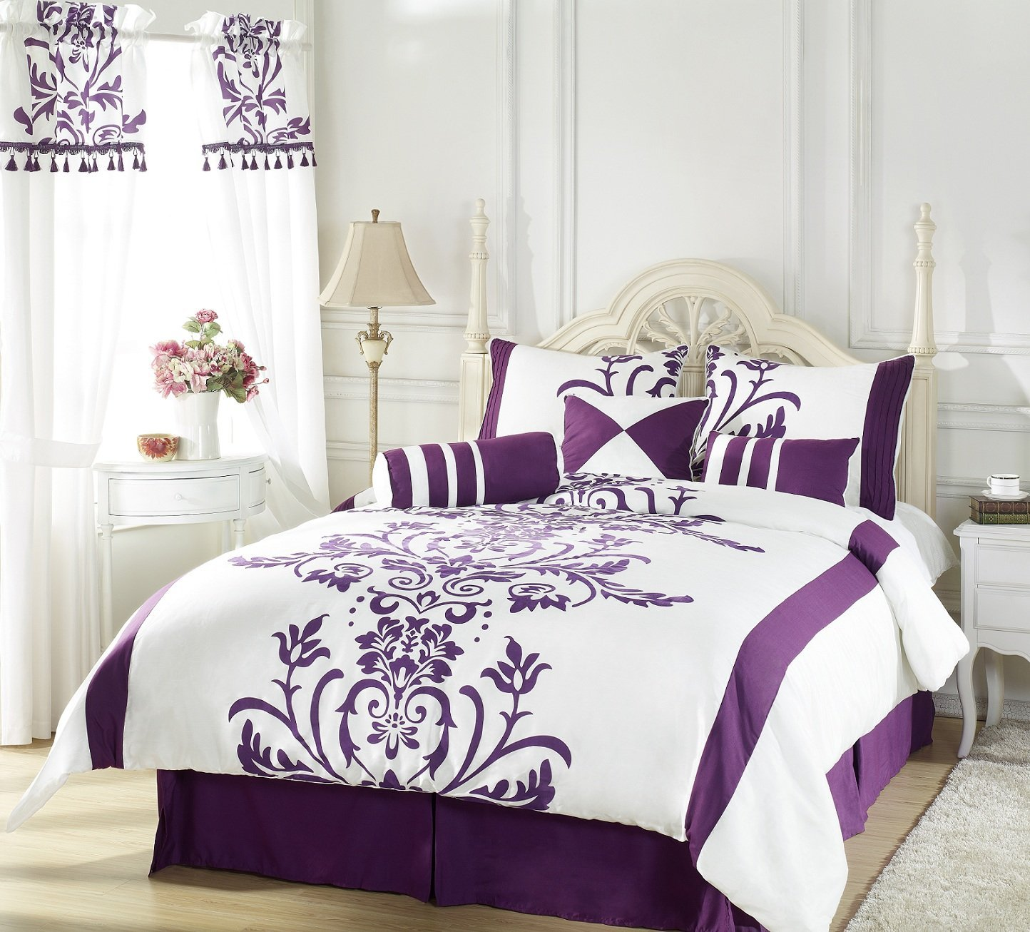 Dark Purple Comforter Sets | Purple Comforter Sets | Queen Purple Comforter Set