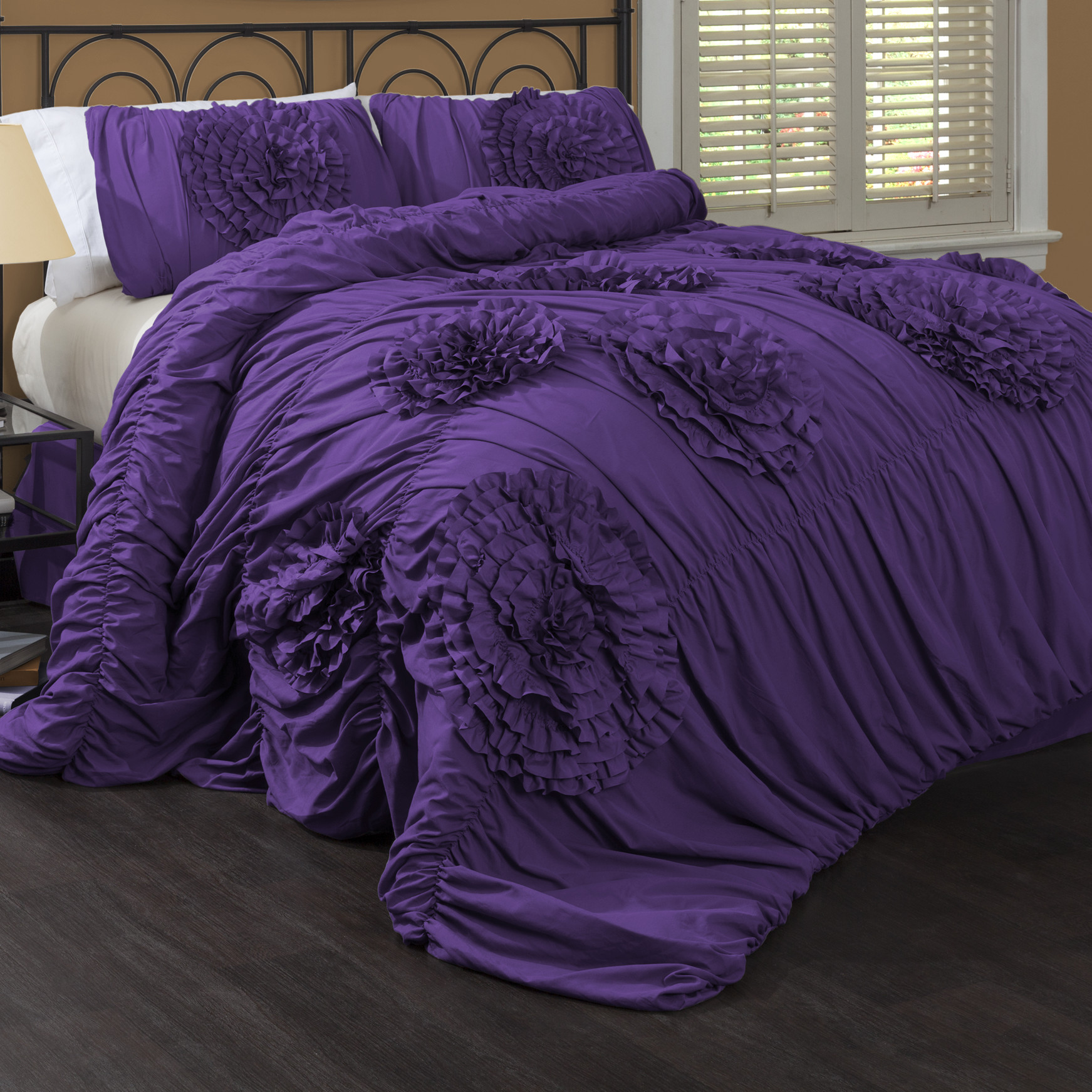 Dark Purple Comforter Sets Queen | Purple Full Size Comforter Set | Purple Comforter Sets