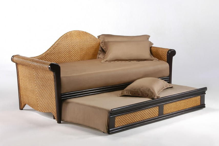 Daybed Frame | Full Size Daybed With Trundle | Upholstered Daybed