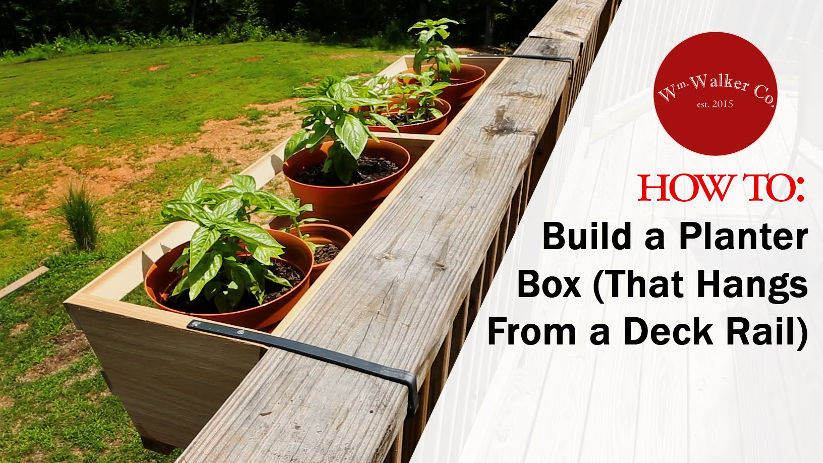 Deck Rail Planters | Deck Hangers for Plants | Lowes Planter Box