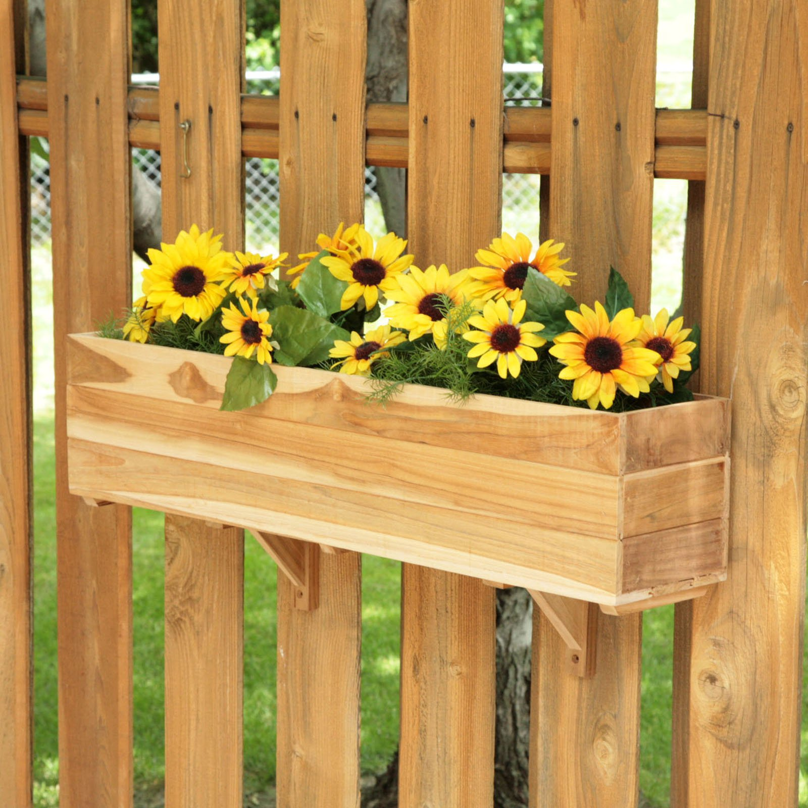 Deck Rail Planters | Flower Box Brackets for Vinyl Railing | Deck Hangers for Plants