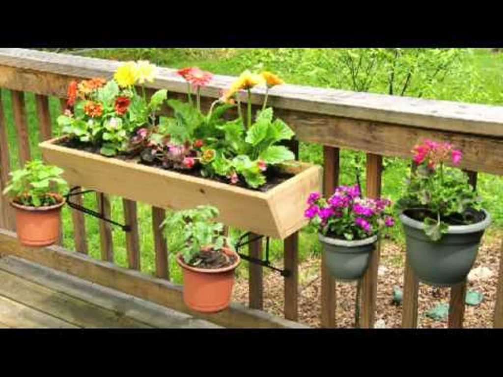 Deck Rail Planters | Rail Hanging Planters | Deck Rail Planter Box
