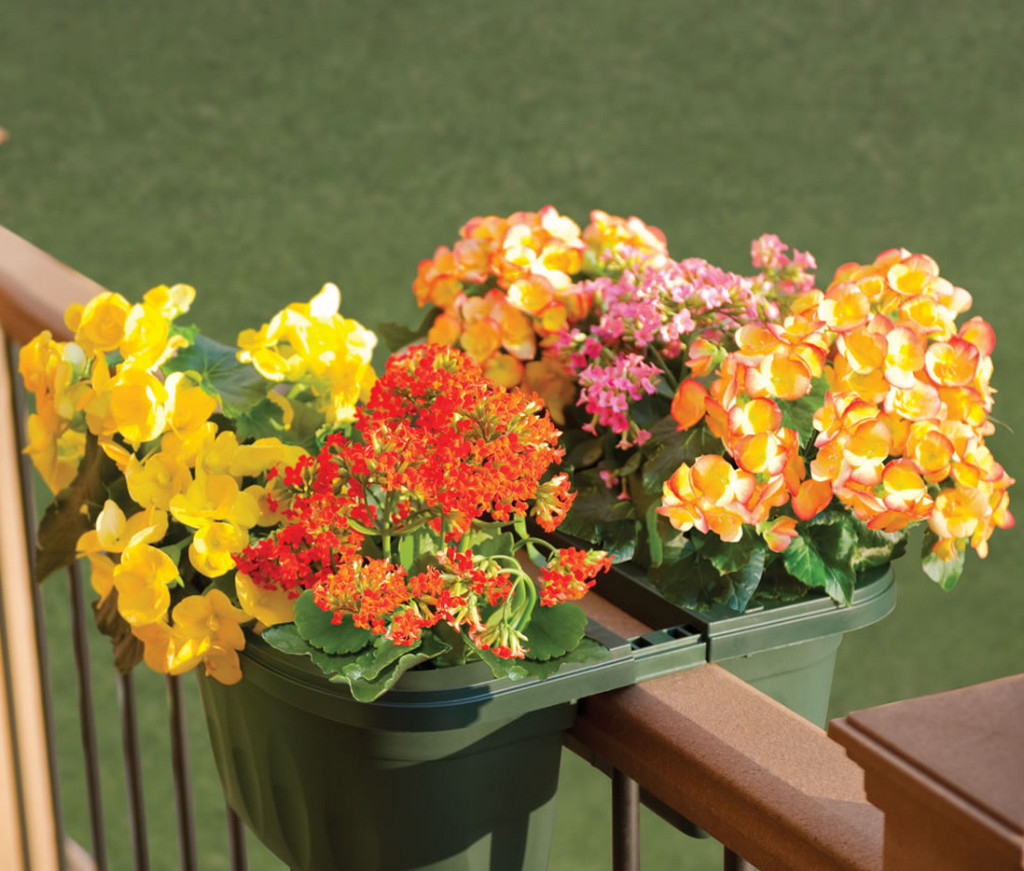 Deck Rail Planters | Railing Planter Box | Ledge Planters