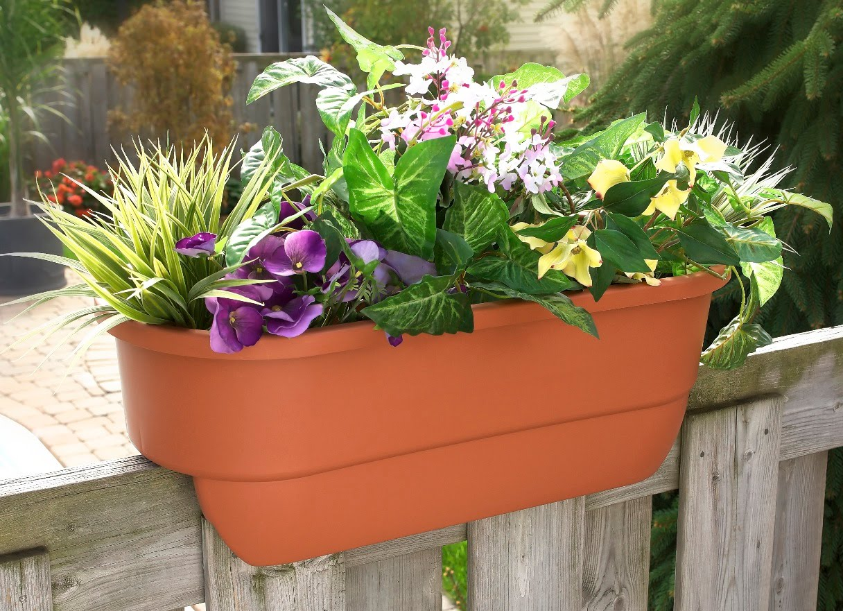 Deck Railing Window Boxes | Deck Rail Planters | Plant Hangers Lowes