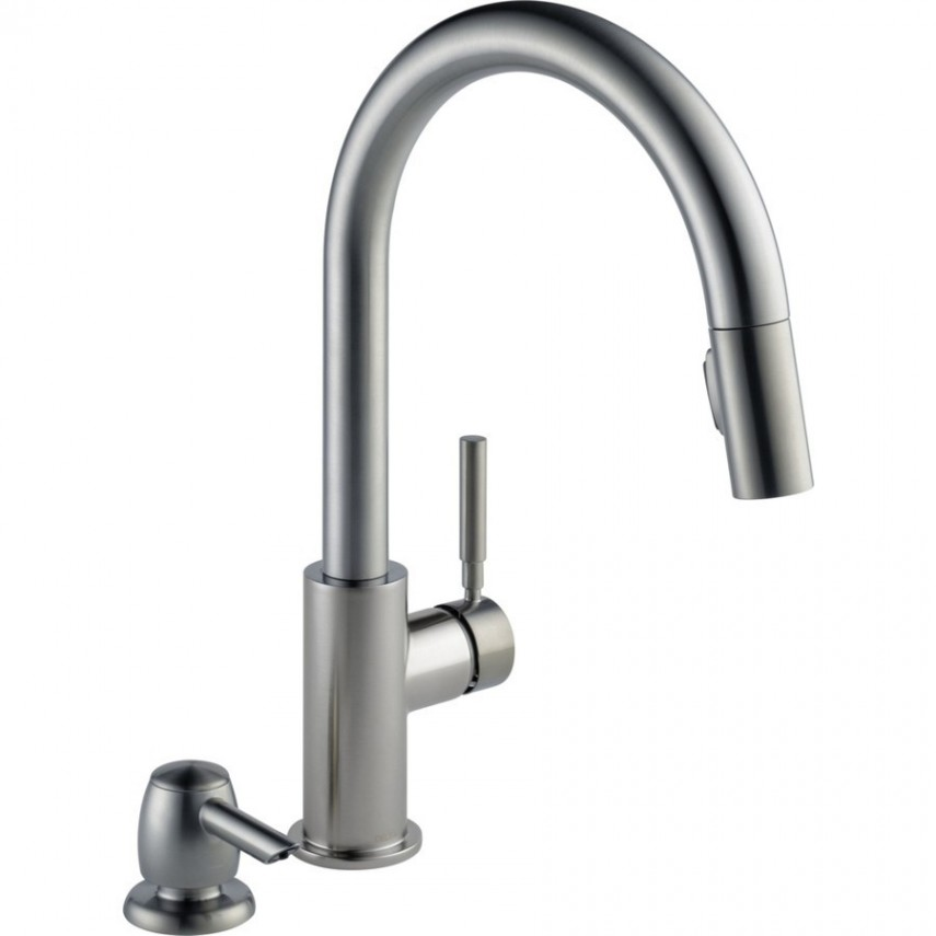 Delta Cassidy Faucet | Moen Brushed Nickel Kitchen Faucet | Delta Cassidy Single Handle