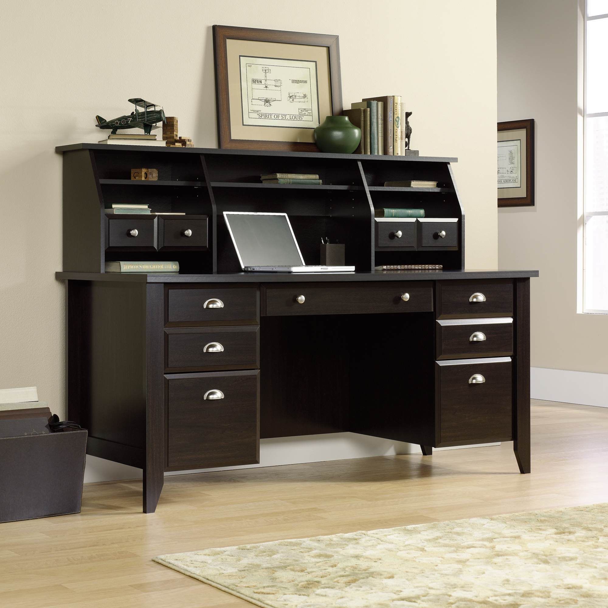Desk with File Cabinet Drawer | Desks at Walmart | Sauder Computer Desks