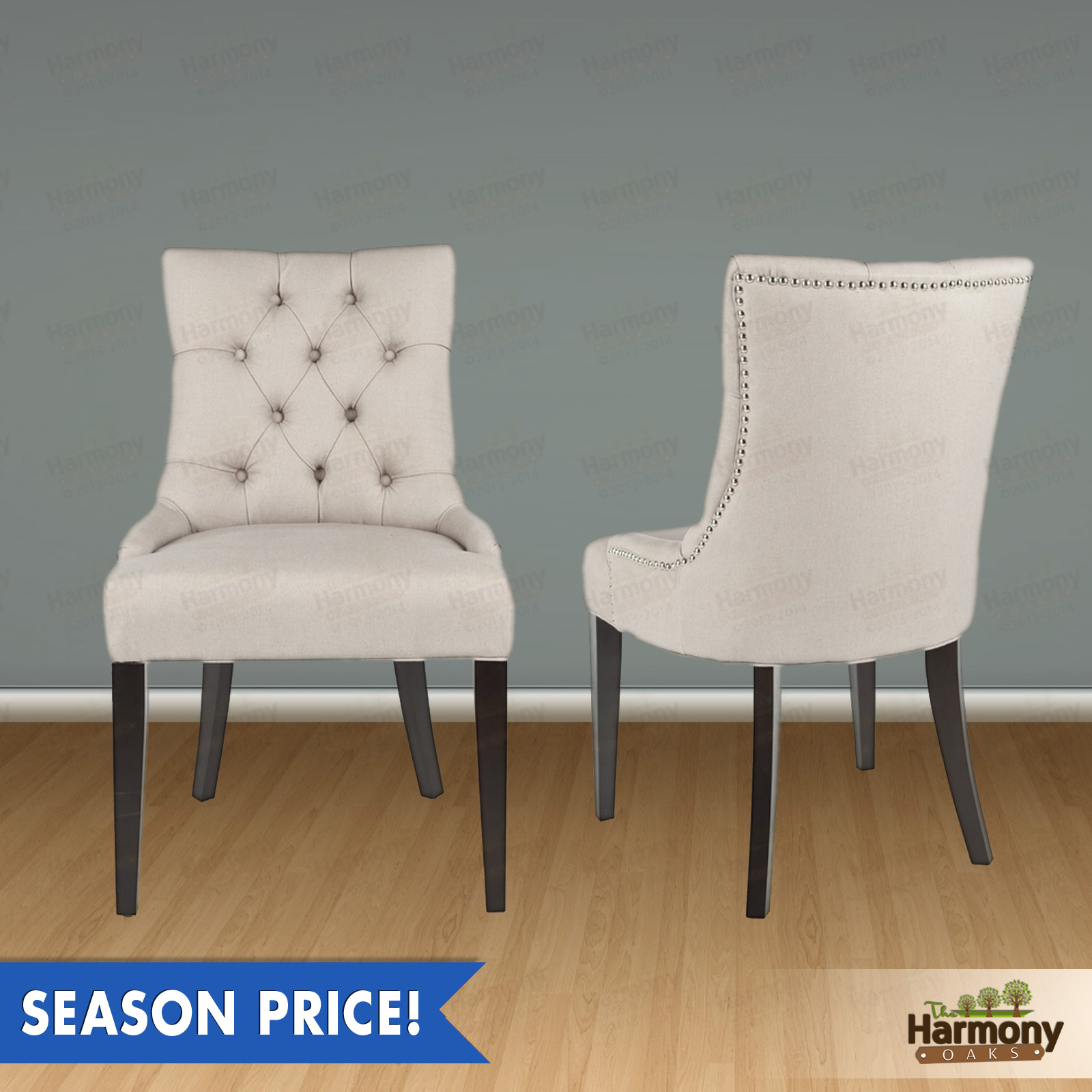 Dining Chairs with Nailheads | Tufted Dining Chair | Discount Dining Room Chairs