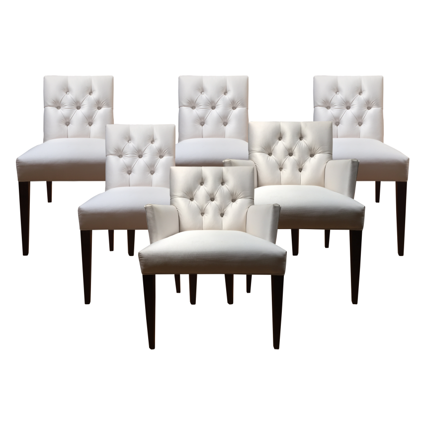 Dining Chairs With Nailheads   Tufted Parsons Dining Chair   Tufted Dining Chair