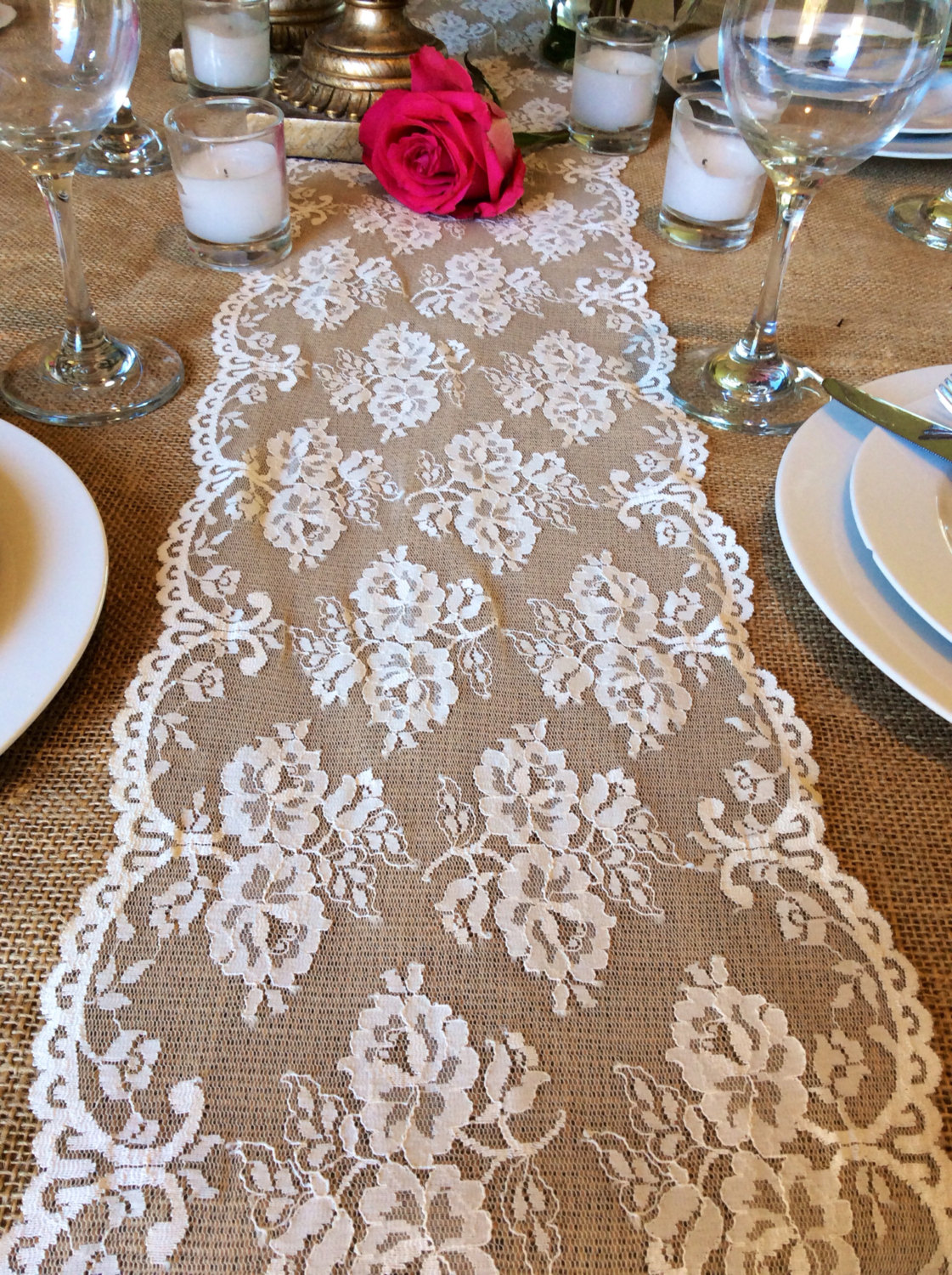 Dresser Runners | Lace Table Runners | Pink Table Runners