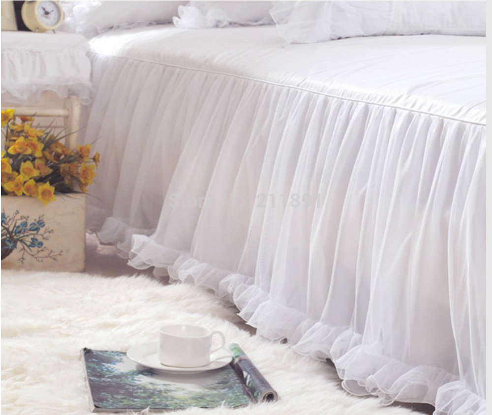Dust Ruffles for Queen Beds | Bed Skirts Queen | Lace Bedskirt