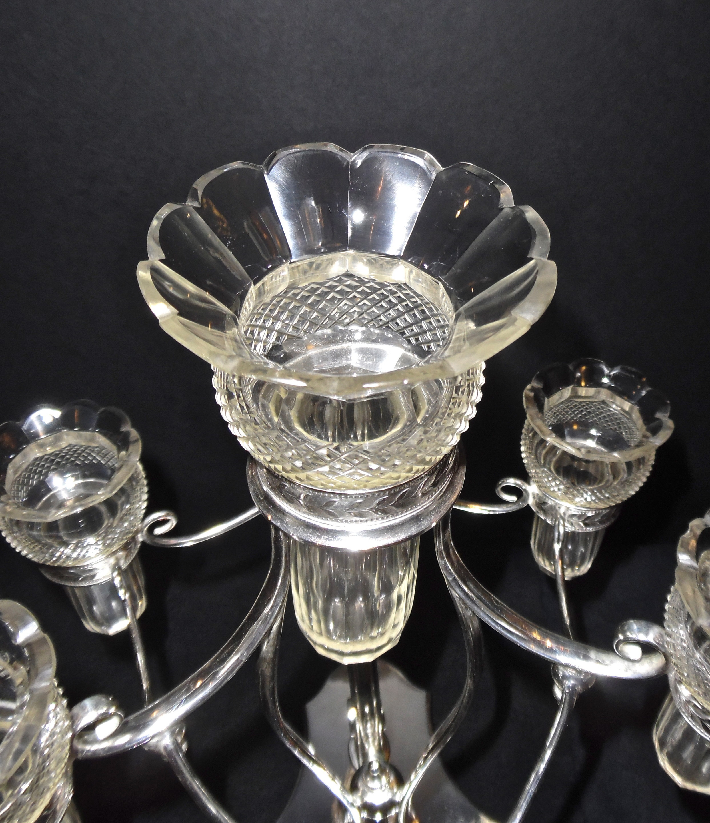 Enjoyable Fenton Glass Epergne | Sensational Epergne