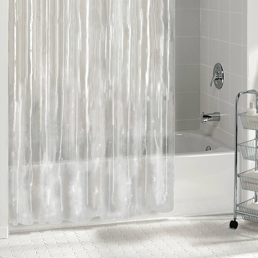 Extra Wide Shower Curtain Liner | Hookless Shower Curtain With Liner | Shower Curtain Liner