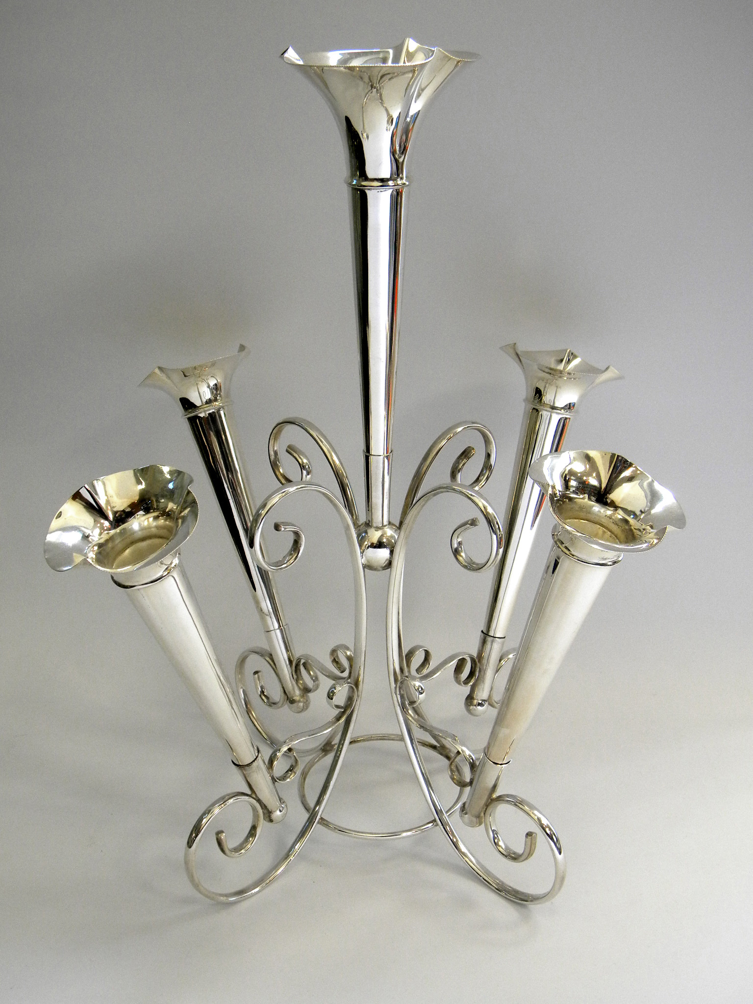 Extraordinary Milk Glass Epergne | Stylish Epergne
