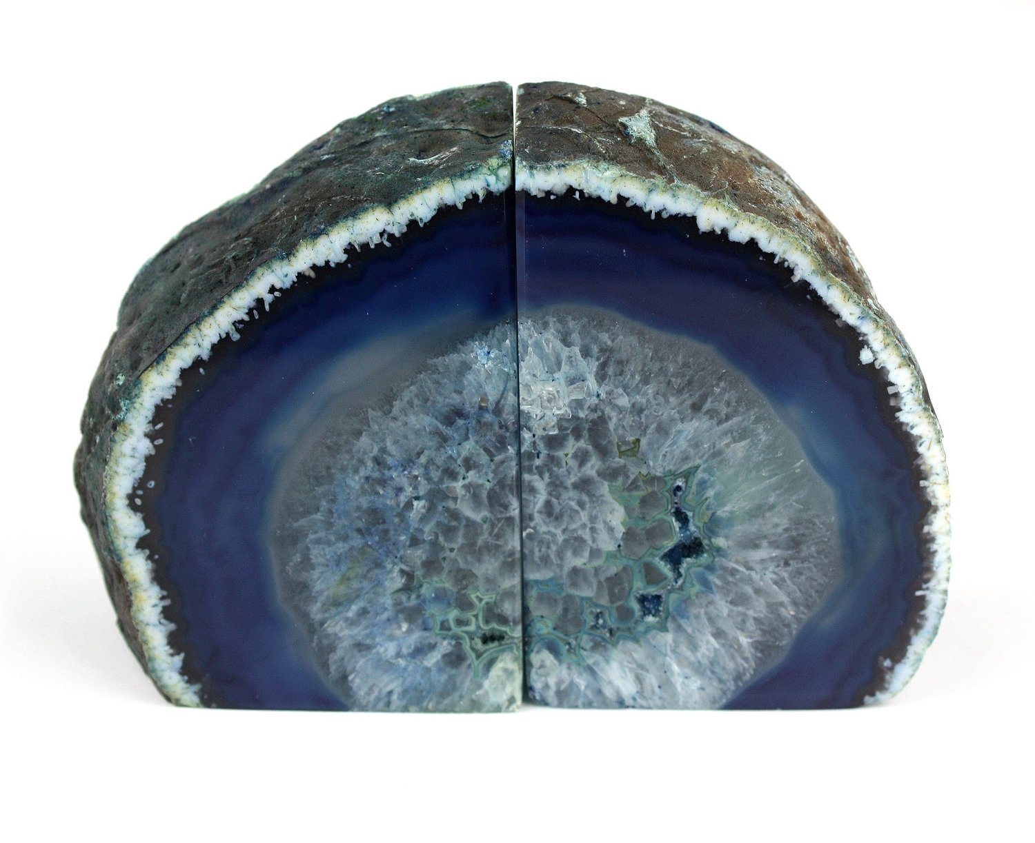 Fancy Geode Bookends | Marvellous Agate Pottery