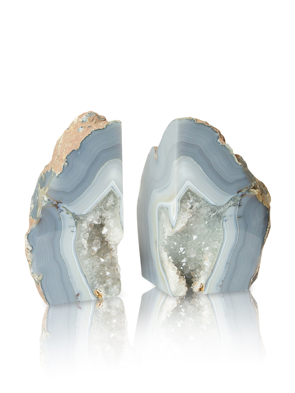Fantastic Blue Geode Bookends | Nice Geode Bookends Design