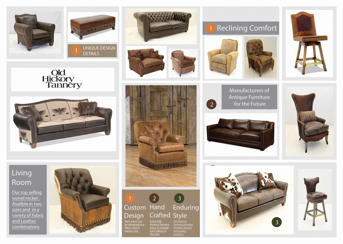 Fascinating Old Hickory Tannery Inspirations | Alluring Old Hickory Tannery Leather Sofa