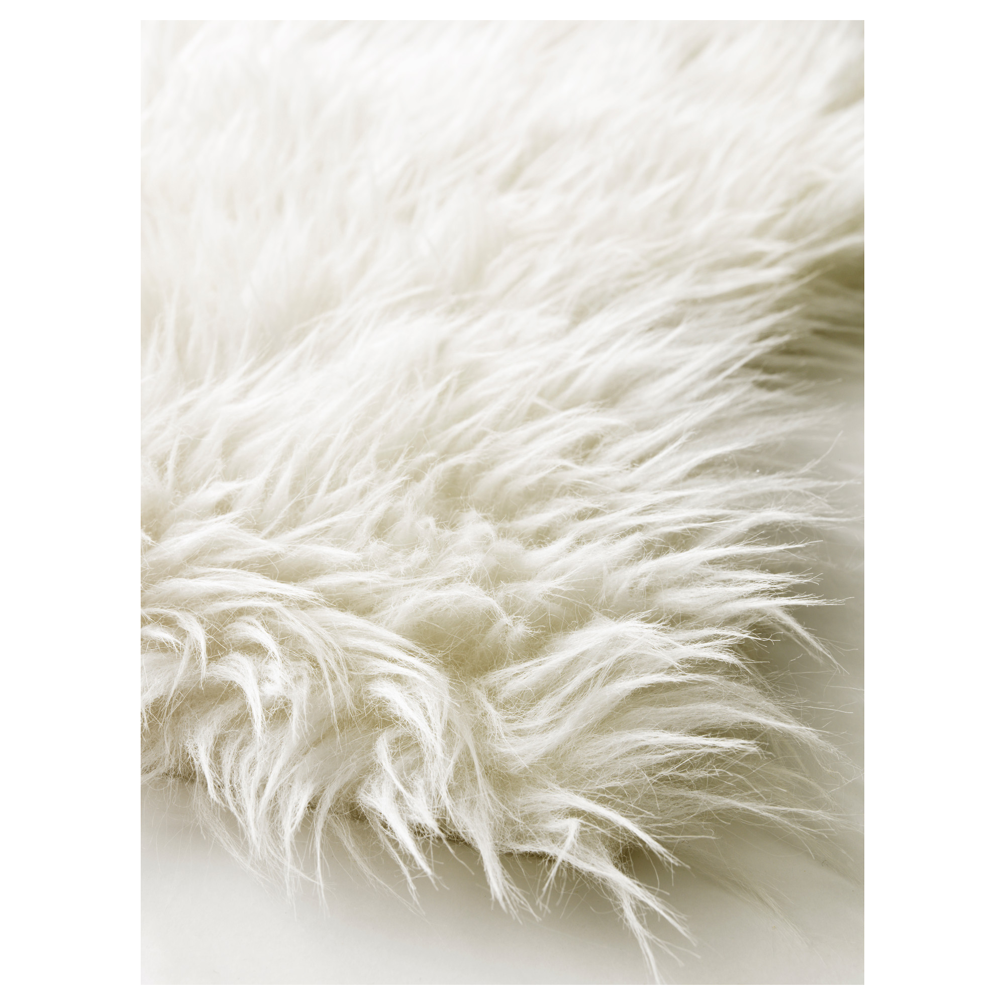 Faux Bear Skin Rug with Head | Fur Rug | White Sheepskin Rug