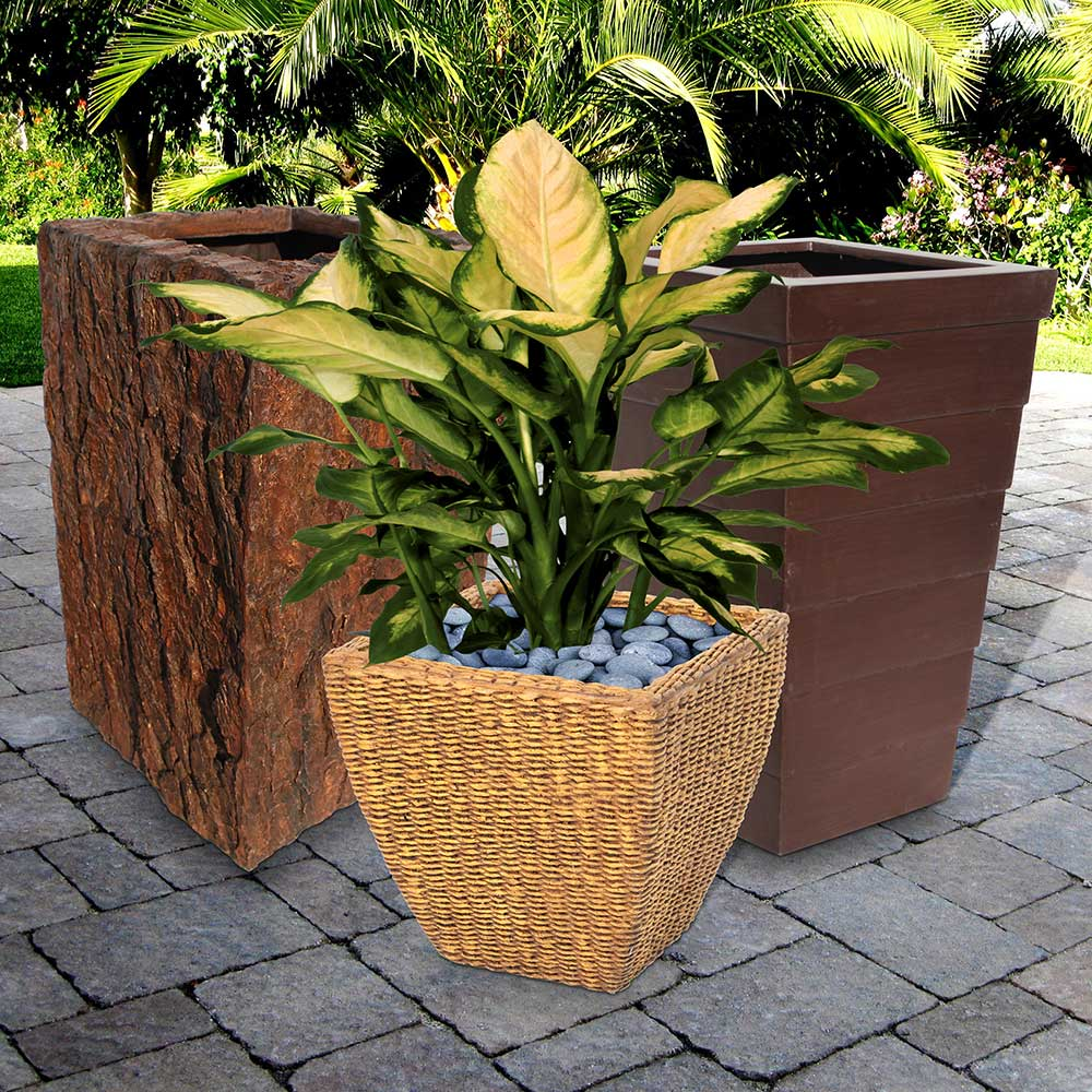 Fiberglass Planters | Lightweight Plant Containers | Contemporary Flower Pots Large