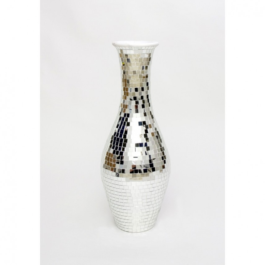 Floor Vase | Large Crystal Vase | Tall Silver Vases