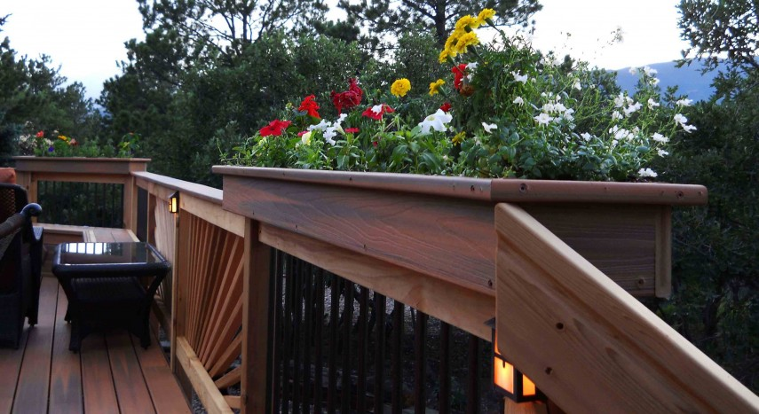 Flower Pots Balcony Railings | Deck Rail Planter Brackets | Deck Rail Planters