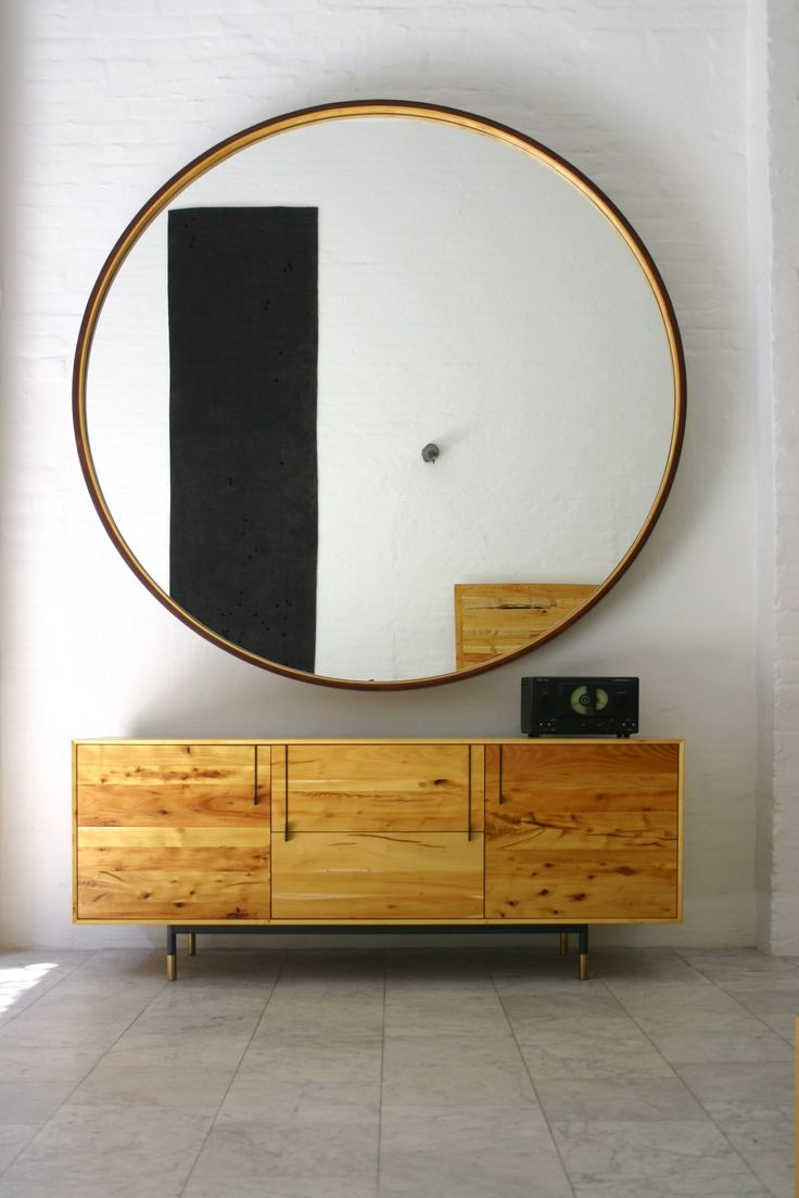 Appealing Oversized Mirrors for Home Decoration Ideas: Frameless Bathroom Mirrors | Oversized Mirrors | Studded Mirror