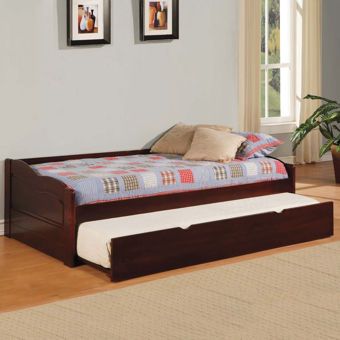 Full Size Daybed with Trundle | White Metal Daybed | Daybed Mattress