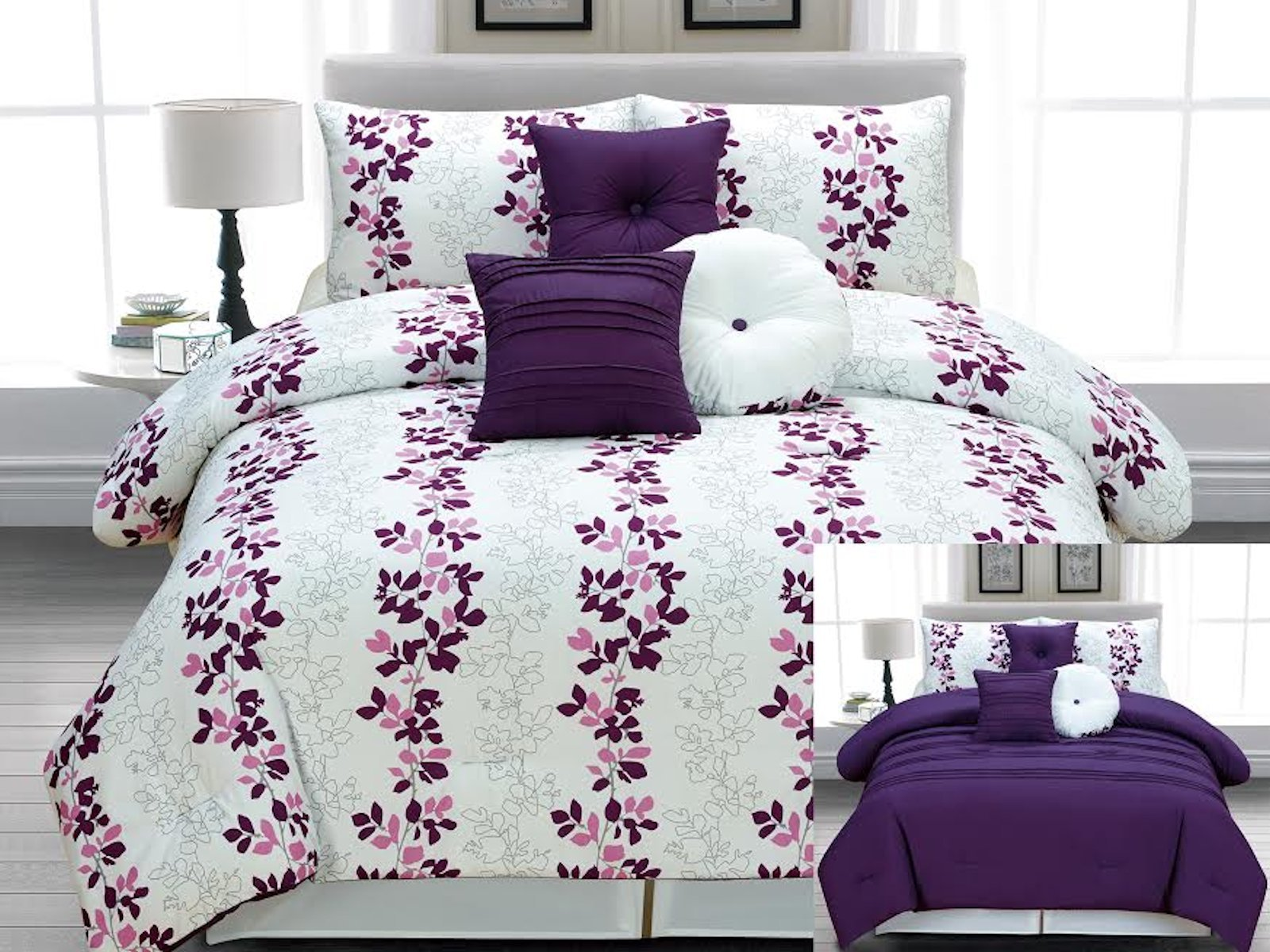 Full Size Purple Comforter Sets | Purple Velvet Comforter Sets Queen | Purple Comforter Sets