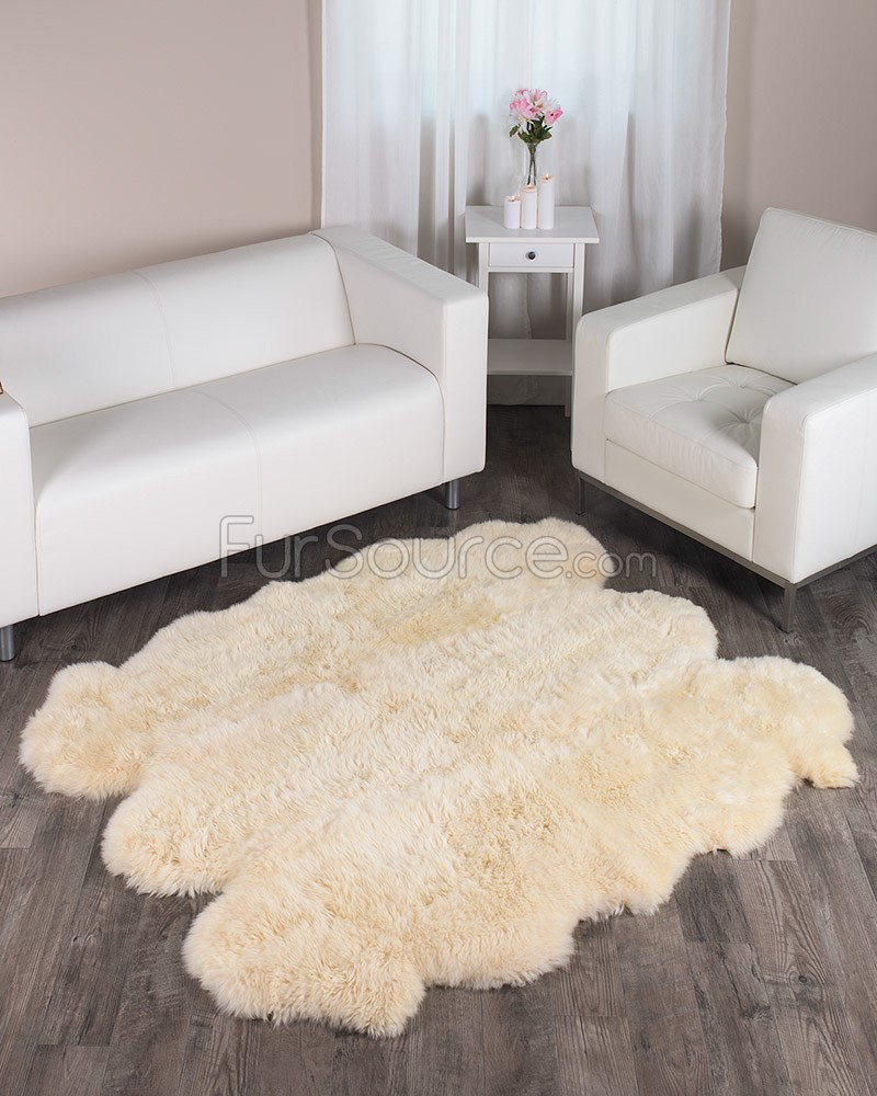 Fur Rug | Faux Bearskin Rug | Furry Area Rugs