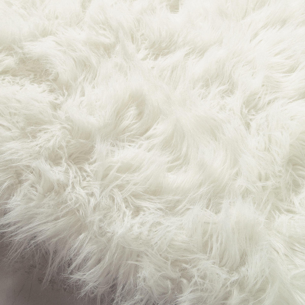 Fur Rug | Grey Sheepskin Rug | Faux White Fur Rug