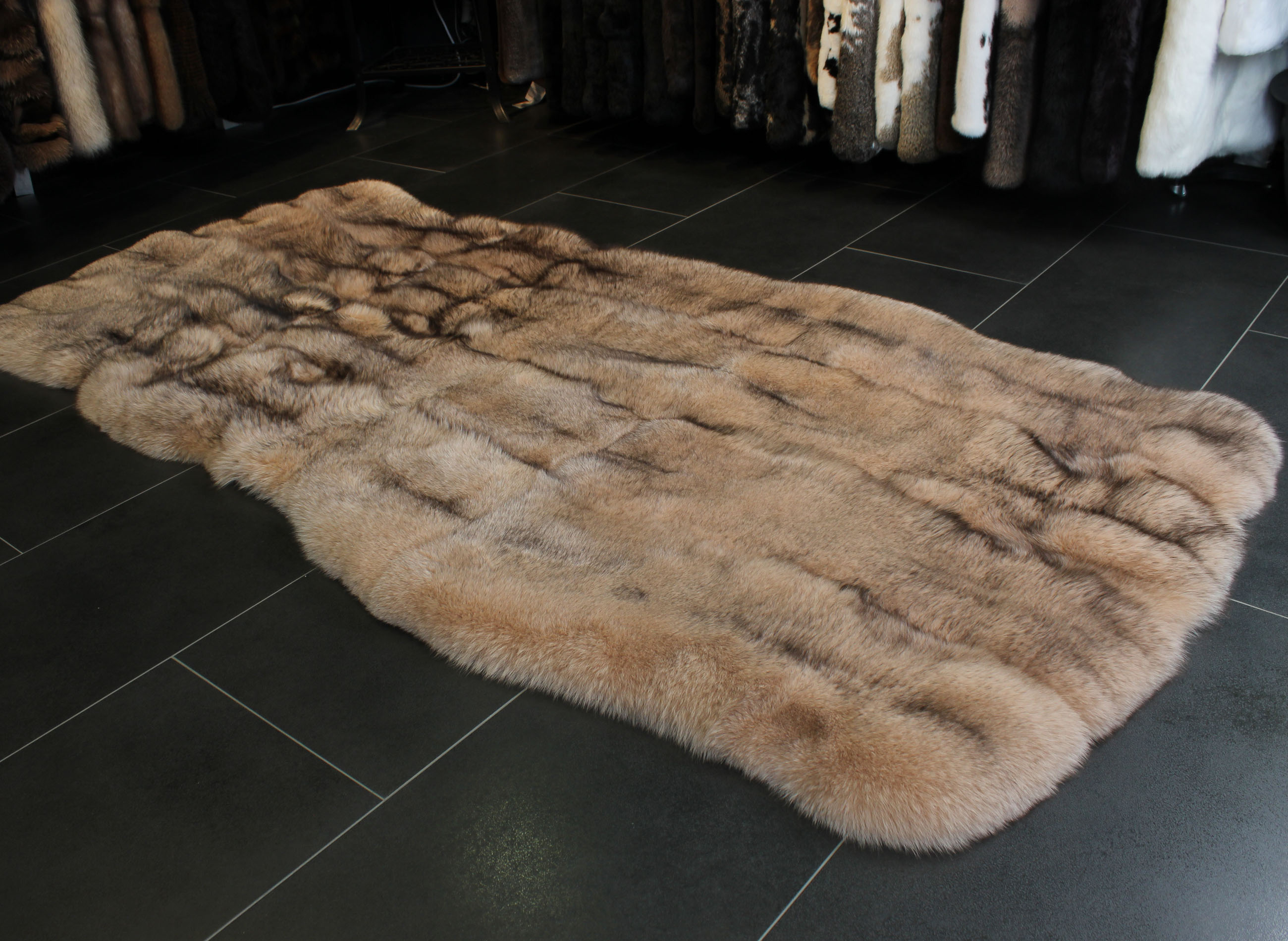 Fur Rug | Small Sheepskin Rug | Brown Fur Rug