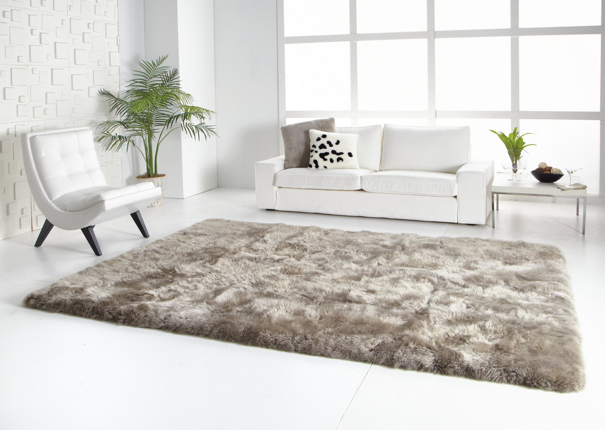 Fur Rug White | Fur Rug | Animal Fur Rugs