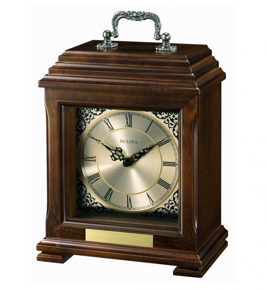 Glass Mantel Clocks | Bulova Mantel Clock | Bulova Pendulum Clock
