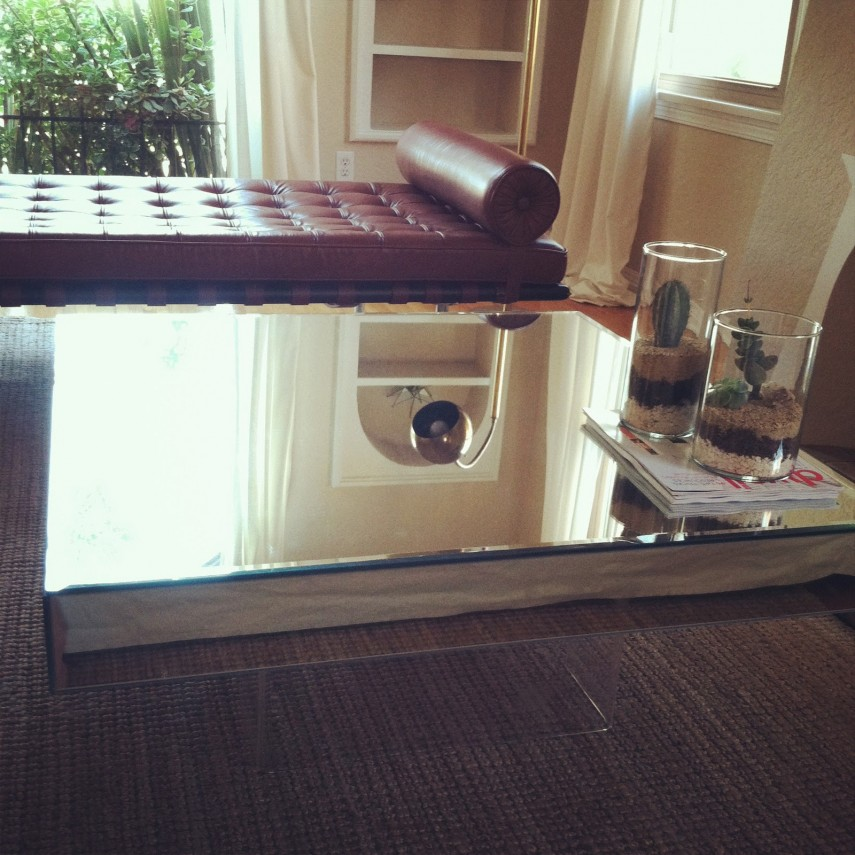 Glass Oval Coffee Table | Mirrored Coffee Table | Marble Coffee Table Round