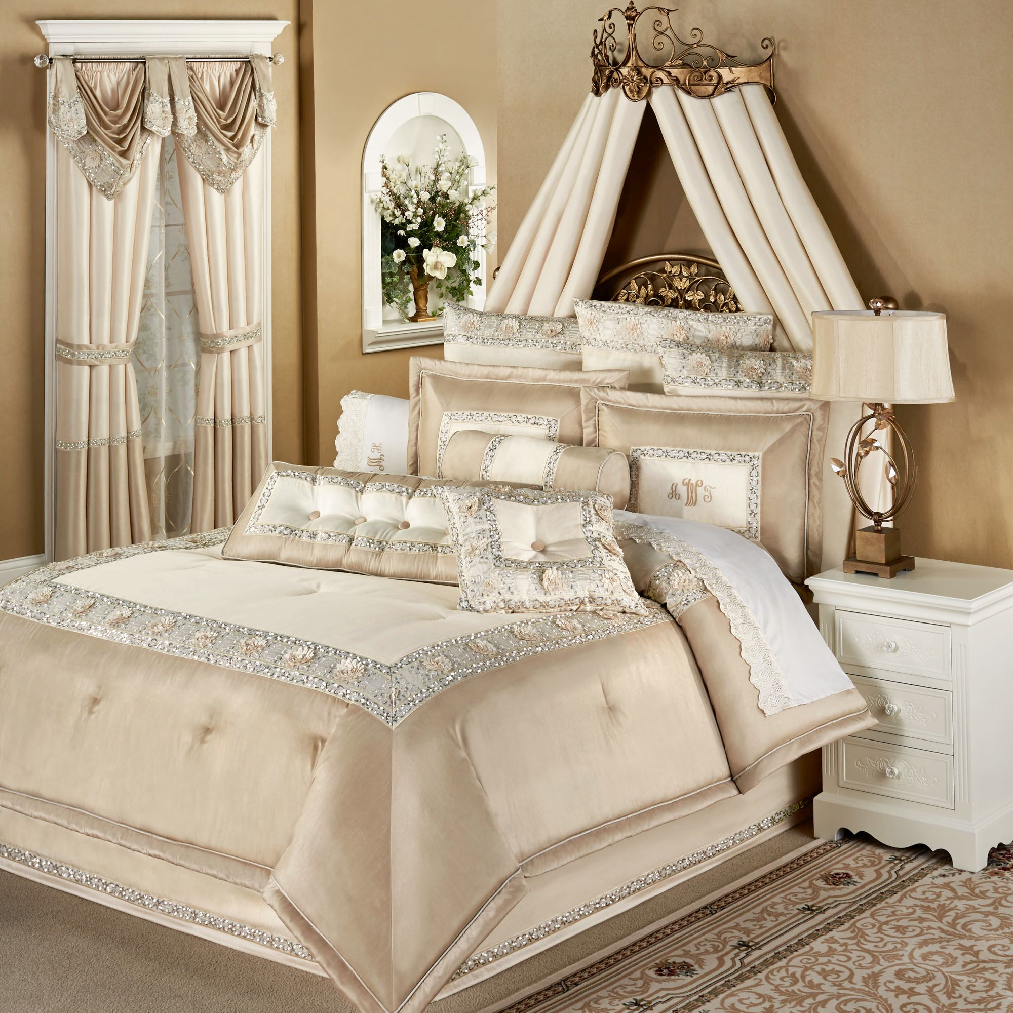 Gold Comforter Set | Twin Bed Comforter Sets | Luxury Comforter Sets