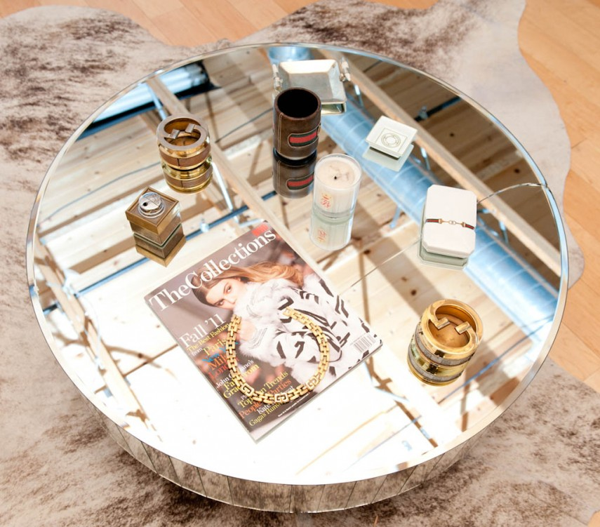Gold Marble Coffee Table | Mirrored Coffee Table | Mirrored Entry Table