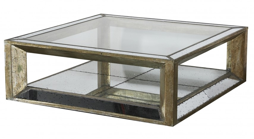 Gold Mirrored Side Table | Mirrored Side Tables | Mirrored Coffee Table