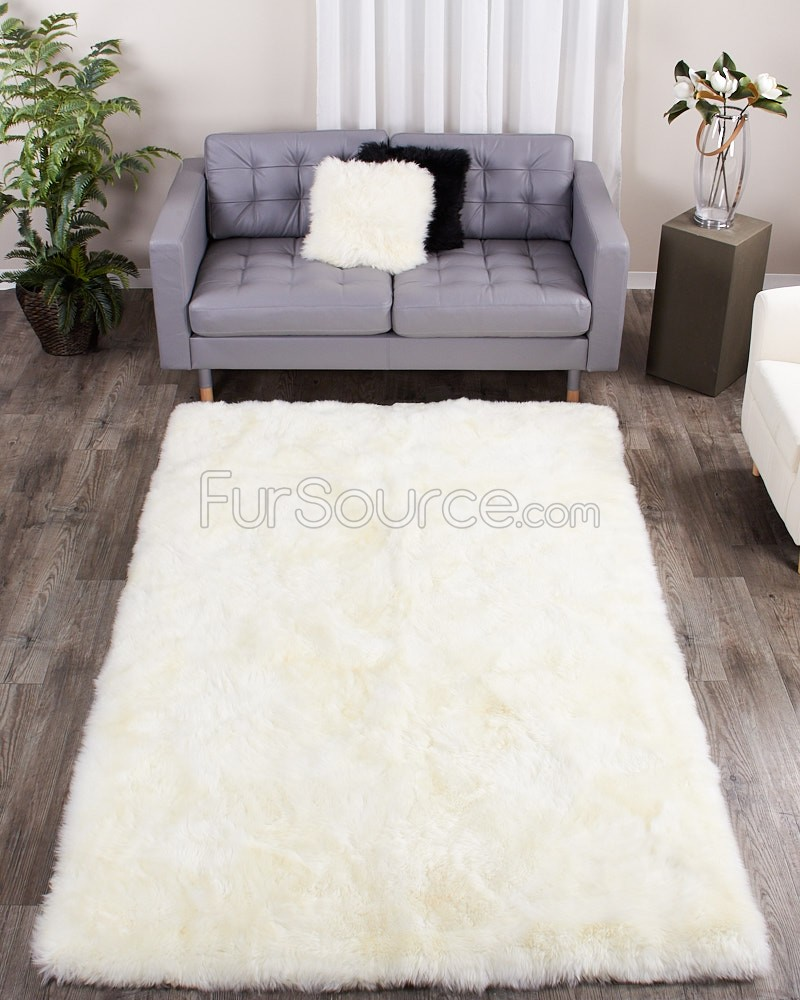 Grey Faux Fur Rug | Real Bear Rug | Fur Rug