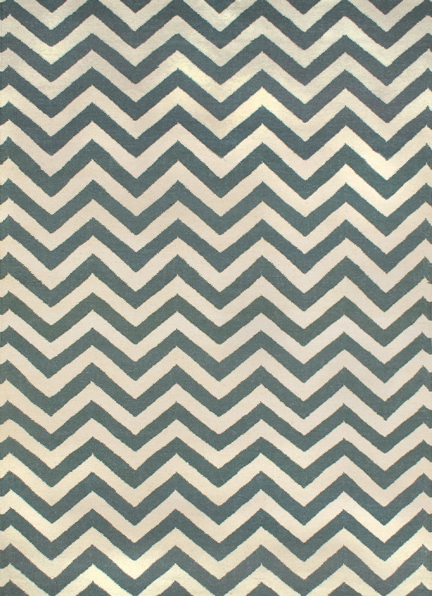 Grey Stripe Rug | Chevron Rug | Chevron Wool Rug