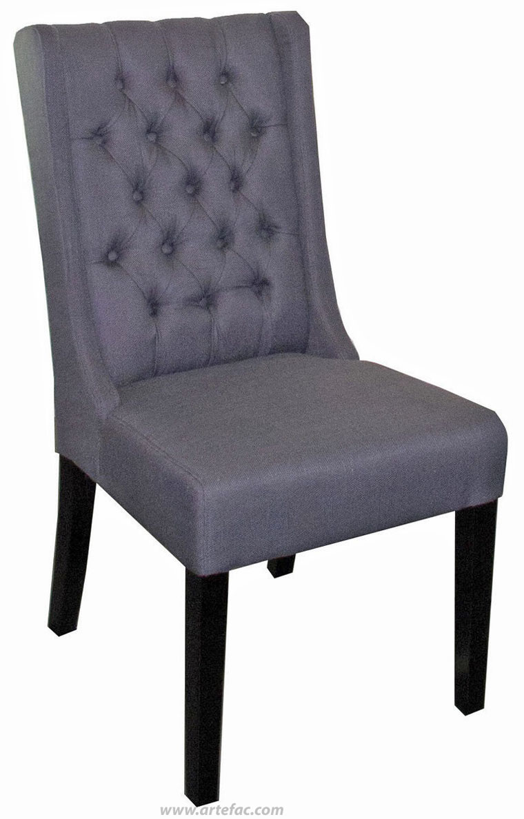 Grey Tufted Chair | Navy Dining Room Chairs | Tufted Dining Chair