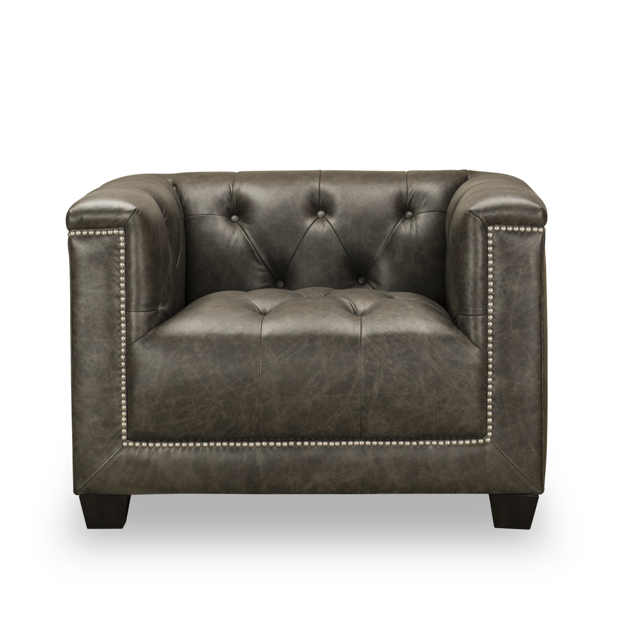 Grey Tufted Chair | Tufted Seat | Tufted Chair