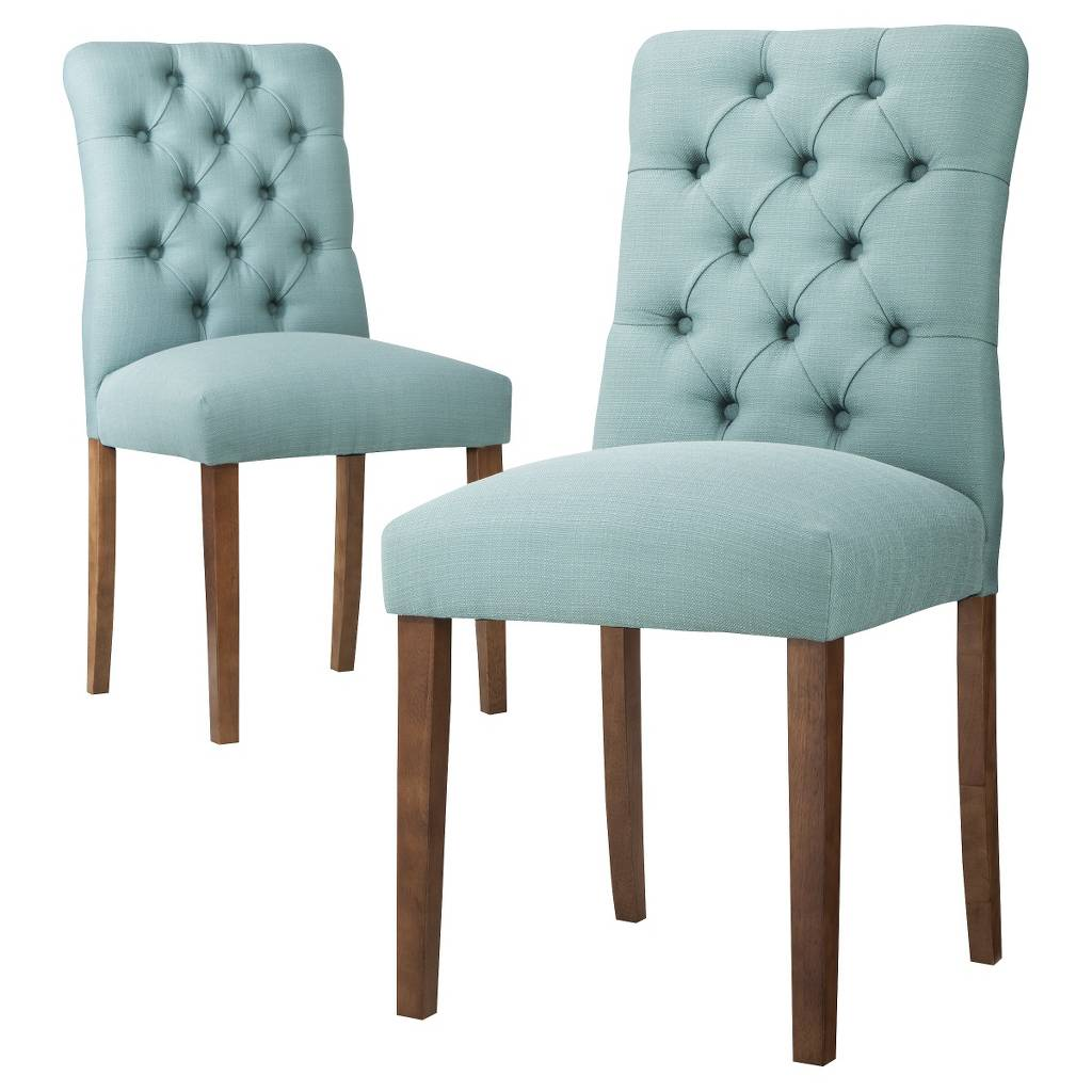 Grey Upholstered Dining Chairs | Inexpensive Dining Chairs | Tufted Dining Chair