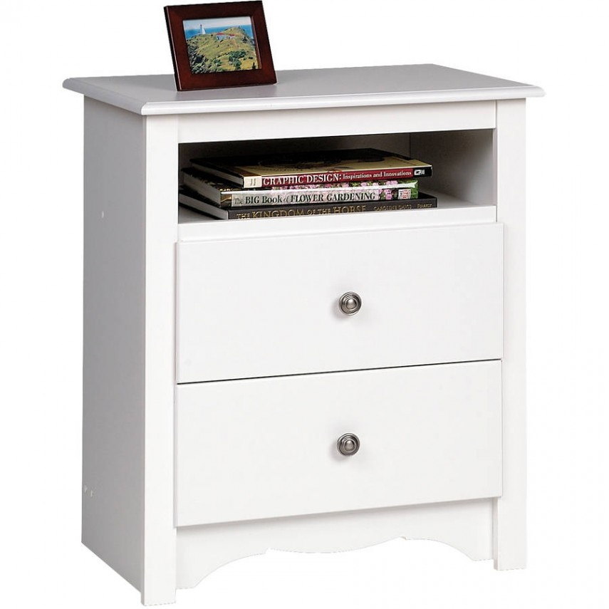 Grey Wood Nightstand | Tall Nightstands | Nightstand With Drawers