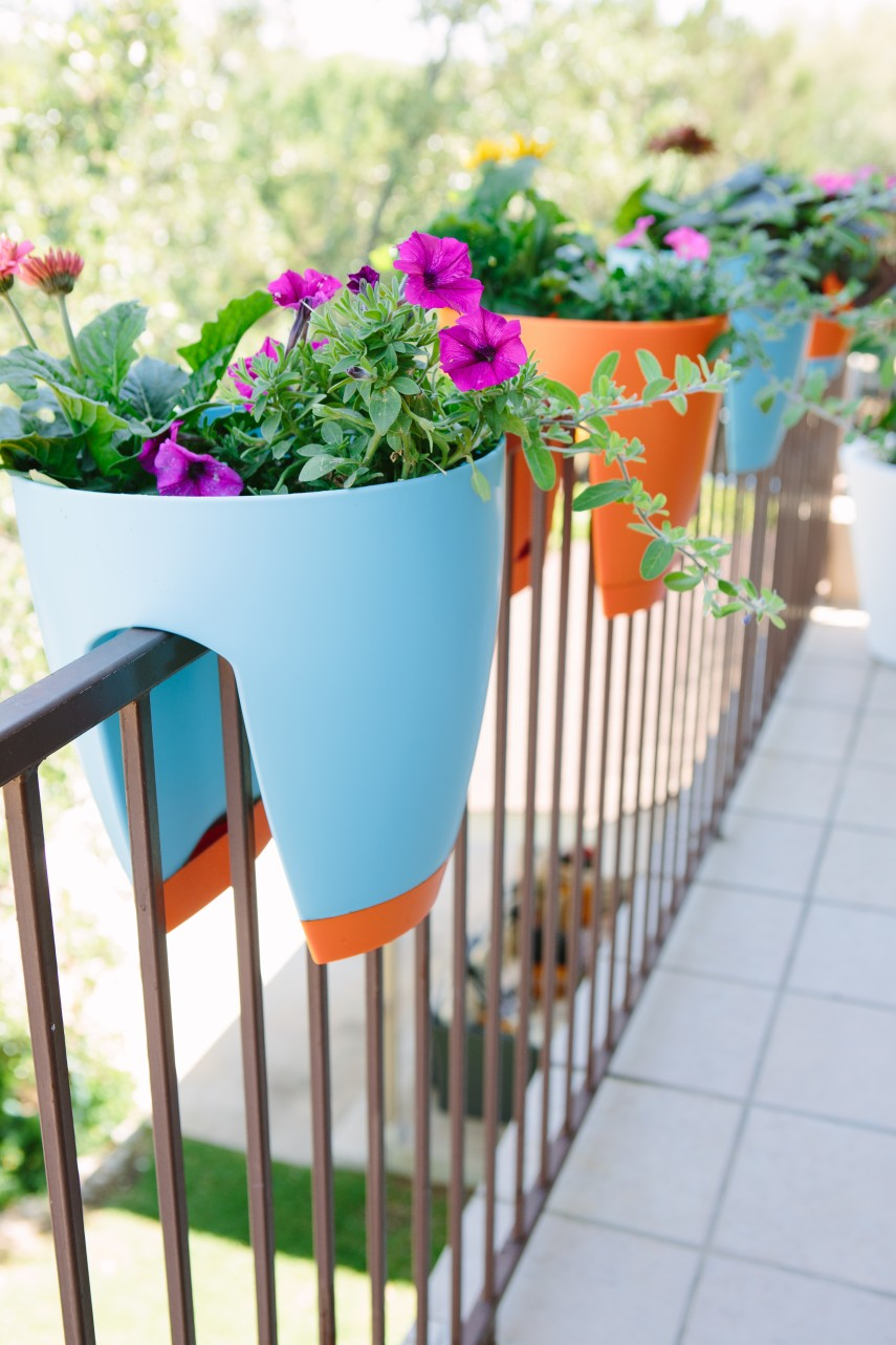 Hanging Fence Planters | Deck Rail Planters | Flower Box Brackets For Vinyl Railing