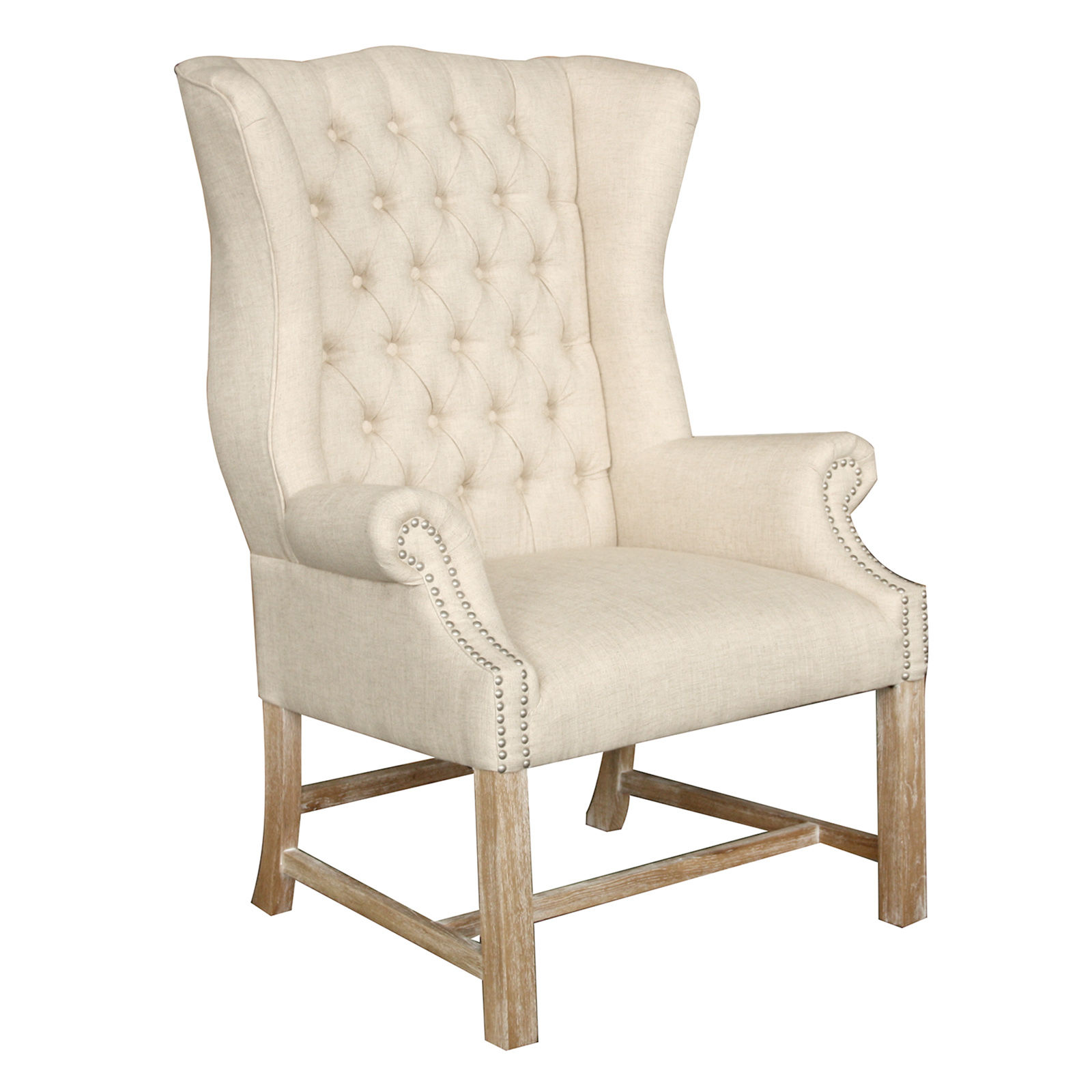 Dining room grey wingback chair patterned living room Tufted accent chair