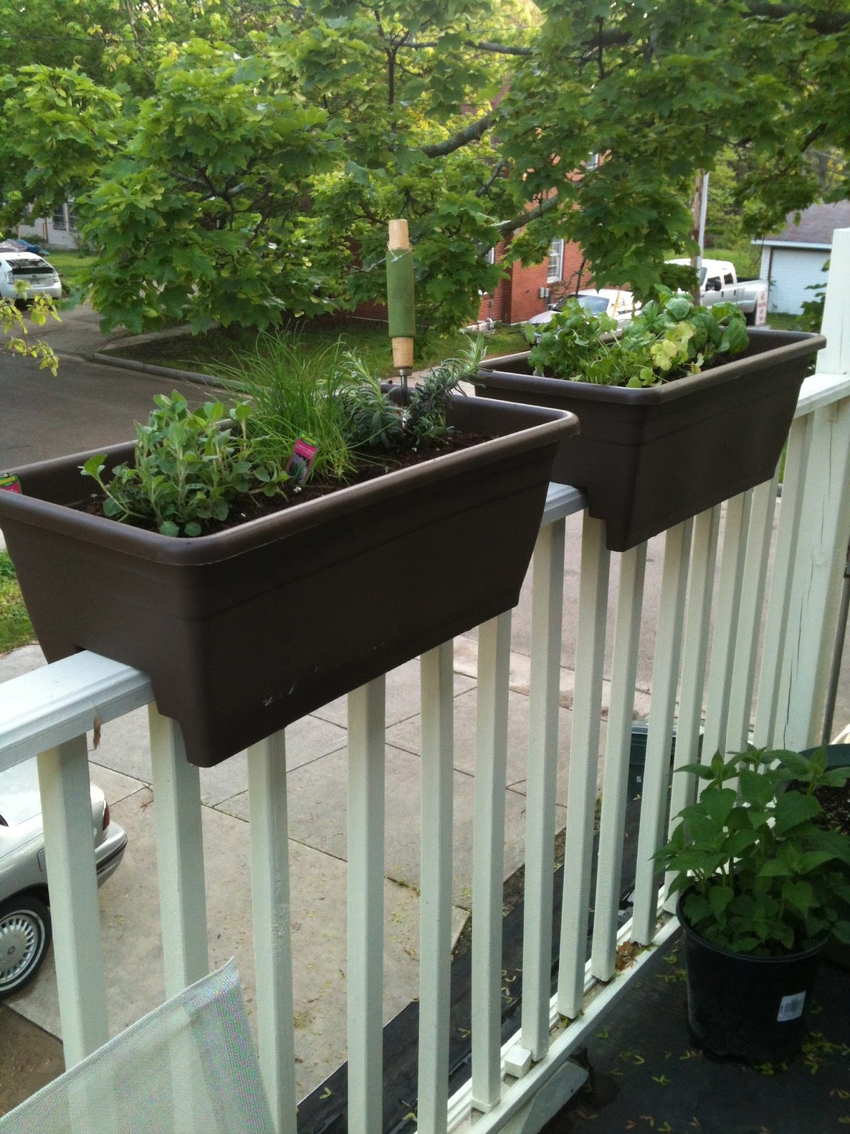Home Depot Planter Boxes | Deck Rail Planters | Wooden Deck Planter Boxes