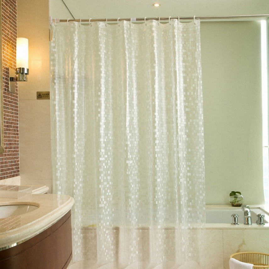 Hookless Fabric Shower Curtain With Snap Liner   Shower Curtain Liner   How To Clean Shower Curtain Liner