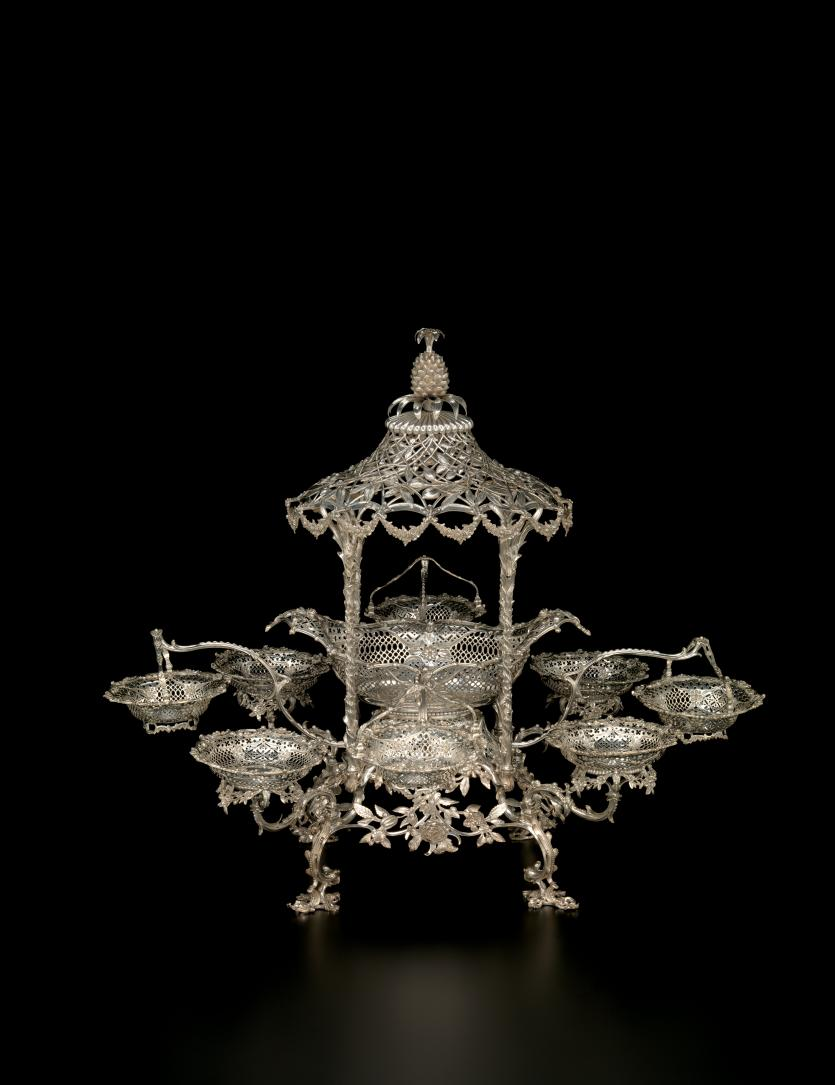 Using Antique Epergne for Dining Table Accessories Ideas: Inspiring Sterling Silver Epergne Idea | Lovely Epergne