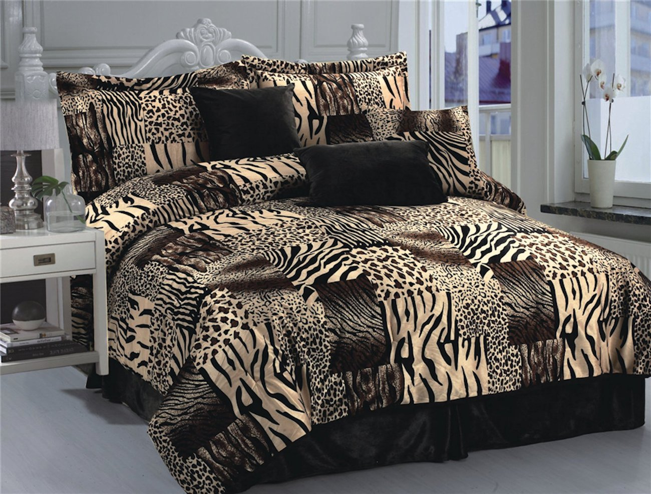 King Comforters | Black And White Queen Size Bedding Sets | Queen Size Bedding Sets