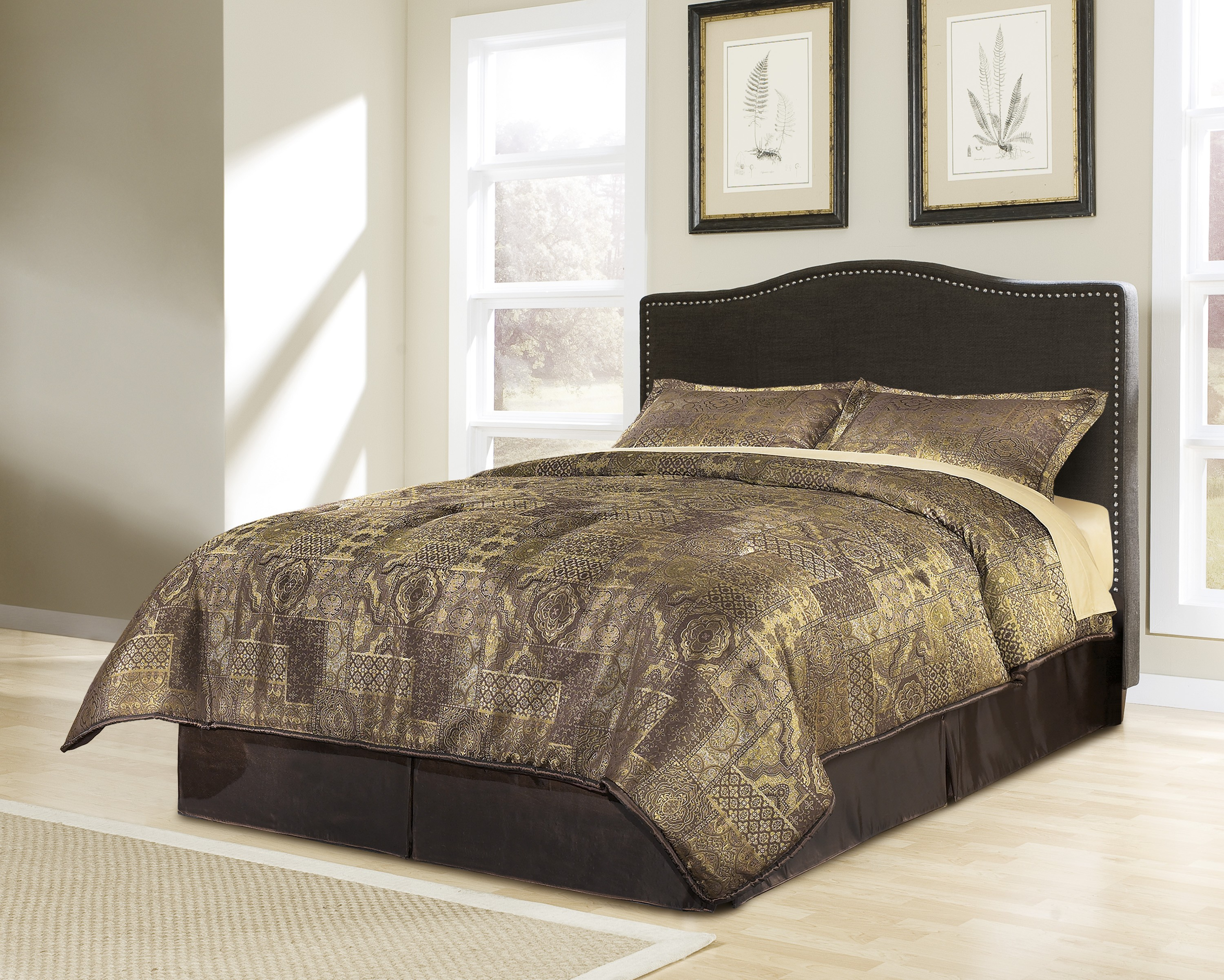 com queen piece amazon comforter taupe home ruffled ppfhzl kitchen chic sets dp set ruth