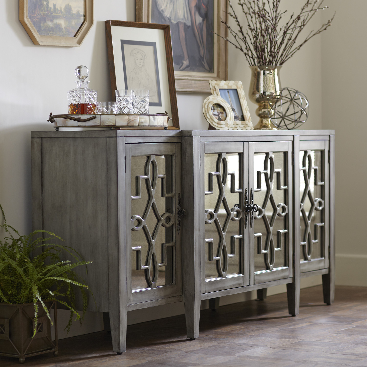 Kitchen Hutch Cabinets | Buffets and Sideboards | Corner Dining Room Hutch - Furniture: Narrow Sideboard Mirrored Buffet Cabinet Buffets
